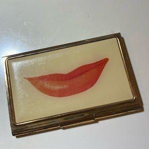 Kate Spade Lips Business Card Holder